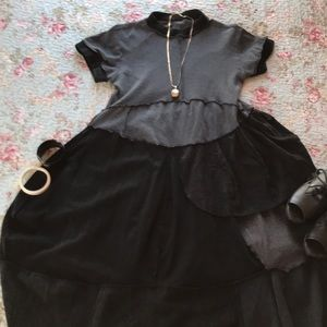 Dresses & Skirts - Lagenlook dress in black and gray